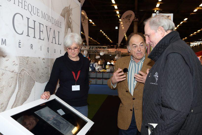 Lancement Bibliothèque Mondiale du Cheval 27 novembre 2018, Salon du cheval - Marie-Laure Peretti, Xavier Libbrecht, Alexis Gruss. Ph. Claude Bigeon.