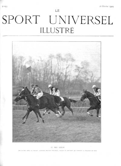 Le Sport Universel Illustré,  N°655 - 28 février 1909