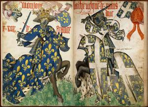 BnF Grand Armorial de la Toison d'Or - feuilleter le fac-similé numérique du manuscrit Arsenal France et Reims