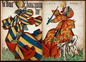 BnF Grand Armorial de la Toison d'Or - feuilleter le fac-similé numérique du manuscrit Arsenal Bourgogne et Normandie