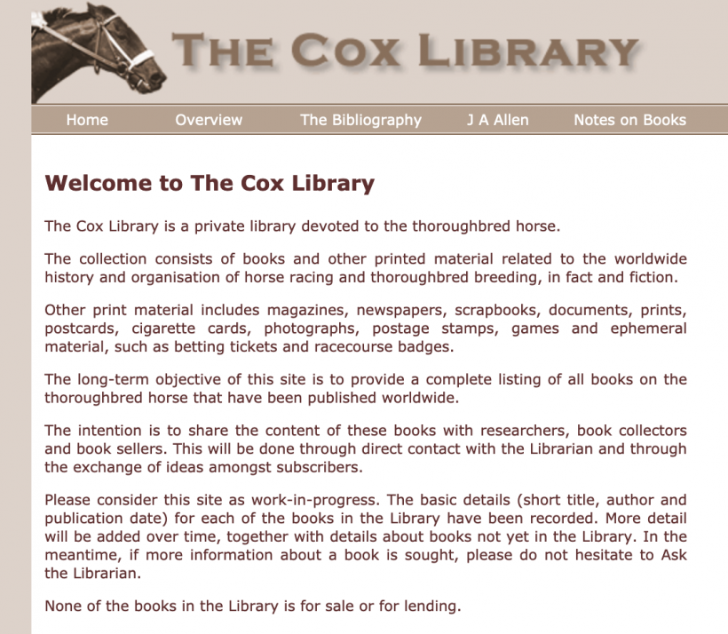 The Cox Library
