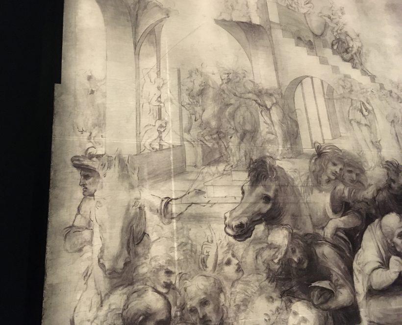 L'Adoration des mages de Léonard de Vinci - Réflectographie infrarouge