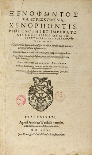 Xenophontis quae exstant opera