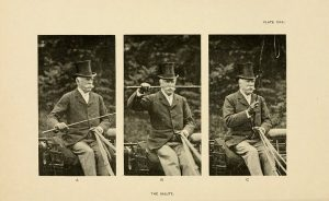 The salute, in: A manual of coaching, by Rogers, Fairman, 1833-1900